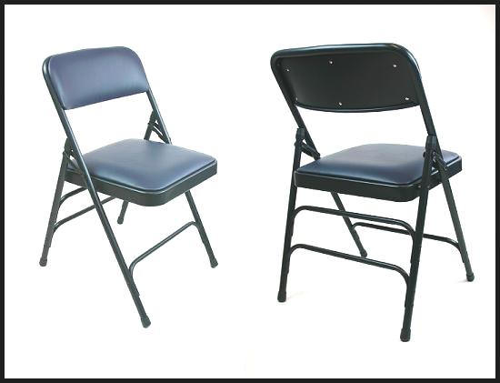 Vinyl padded folding chairs value priced vinyl chairs